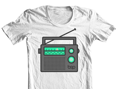 Bop Shirt Light shirt clothing illustration radio bop