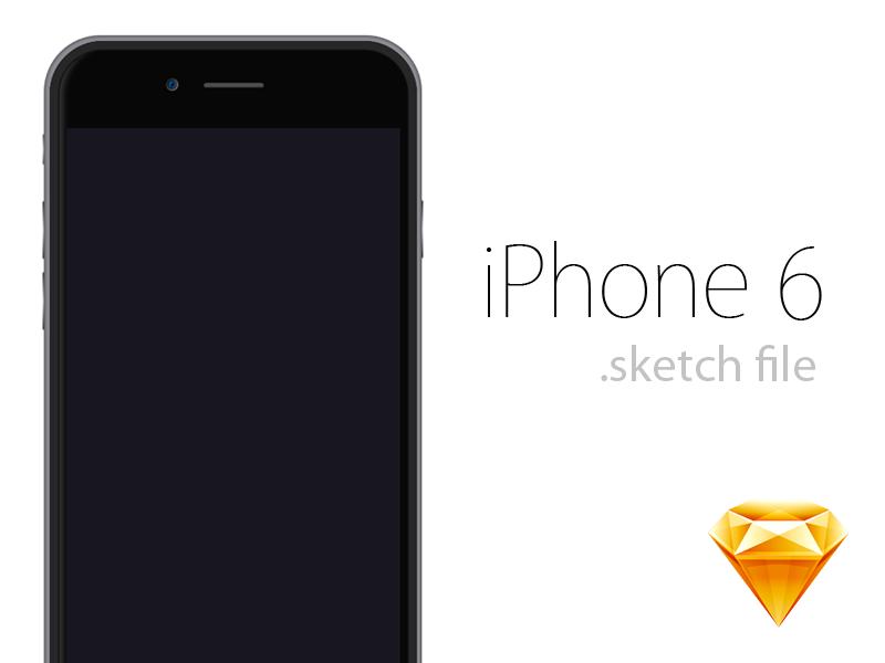 iPhone 6 .sketch Freebie sketch freebie free file resources sketch file vector illustration iphone 6 iphone 4.7 iphone six