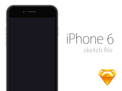 iPhone 6 .sketch Freebie sketch freebie free file resources sketch file vector illustration iphone 6 iphone 4.7 iphone six