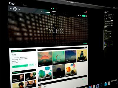 Bop.fm - Artist Page bop.fm artist page website web app music app tycho electronic album art album page