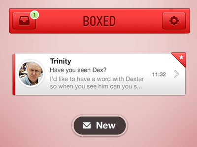 Boxed - an email client app ios application email client mobile iphone iphone app
