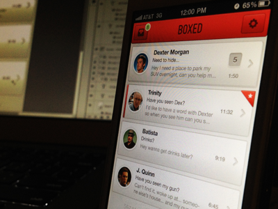Boxed app ios application email client mobile iphone iphone app