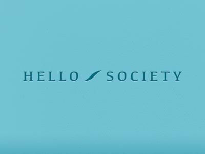 Hello Society Branding brand logo branding identity mark wordmark