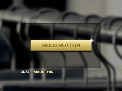 Gold Button gold golden button ui interface blur proxima nova gotham buttons