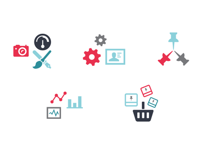 Icons icons pictograms icon flat clean simple