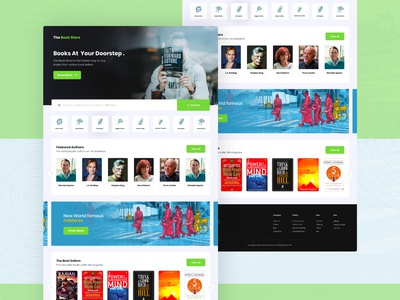 The Book Store Landing Page UI