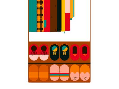Simple Fantasy: Perfect Shoe Rack styleframe simple procreate minimal illustration flat design 2d