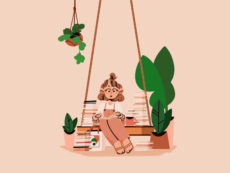Pomona Zine Fest zine simple minimal character plants 2d design illustration