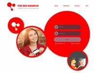 Red Theme UI & UX for brand Red Reserve