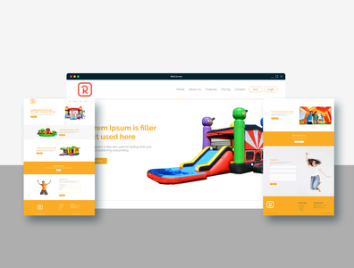 UI & UX Design for Bounce house rental