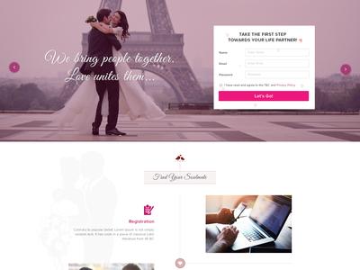 Matrimonial Landing Page