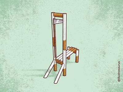 The simple truth guillotine smoking illustrosaurus design truegrit colorhunt pile istoka marko illustration