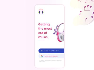 Music App Login Screen