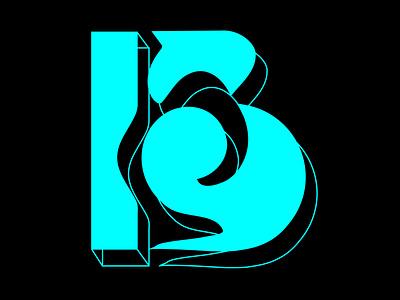 B Shot vector illustrator typography design