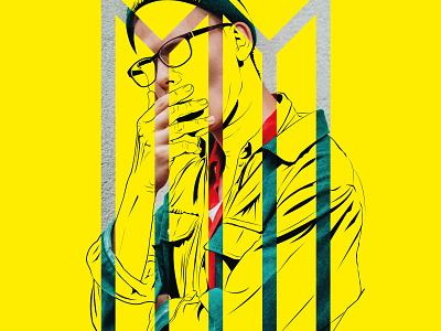 Cover your mouth Shot illustrator vector illustration design art