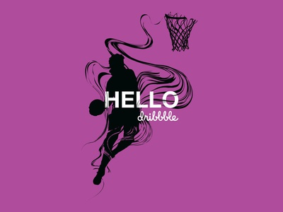 Debut Dunk design debut art illustrator silhouette dunk basketball vector illustration