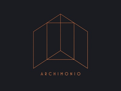 Archimonio Logo brand graphic  design copperplate black design architecture logo