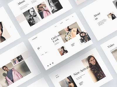 Couture Made for VERO MODA  Web interface fashion web ui 设计