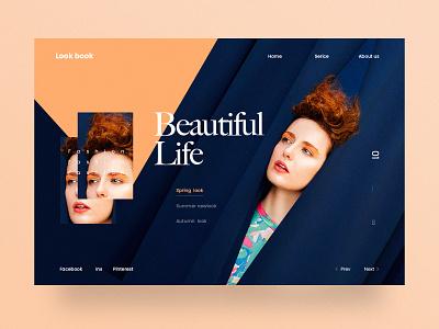Look book Website 时尚 design website ui