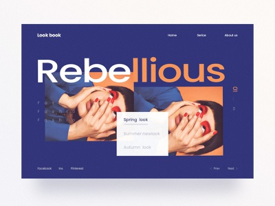 Look book Website website interface web fashion design ui