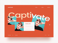 Look book Website Animation
