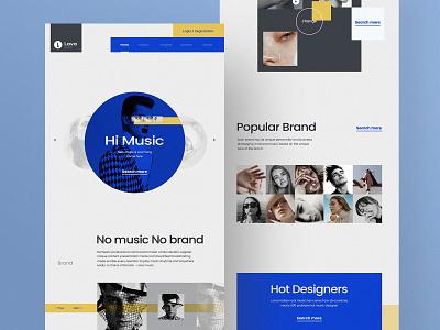 Lava music website music design website ui