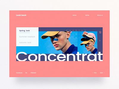Look book Website design website fashion ui