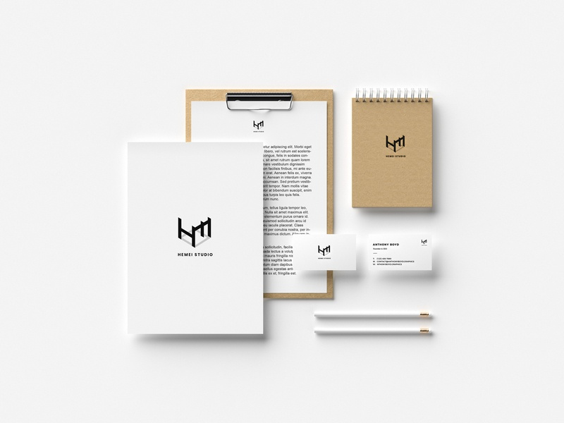 He Mei Studio LOGO design space graphics logo