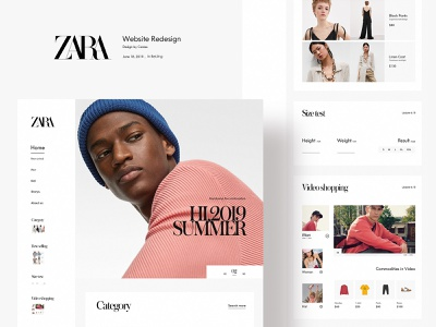 Zara Website Redesign branding website interface fashion web design ui