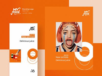 Myfood logo branding&visual food design logo fashion