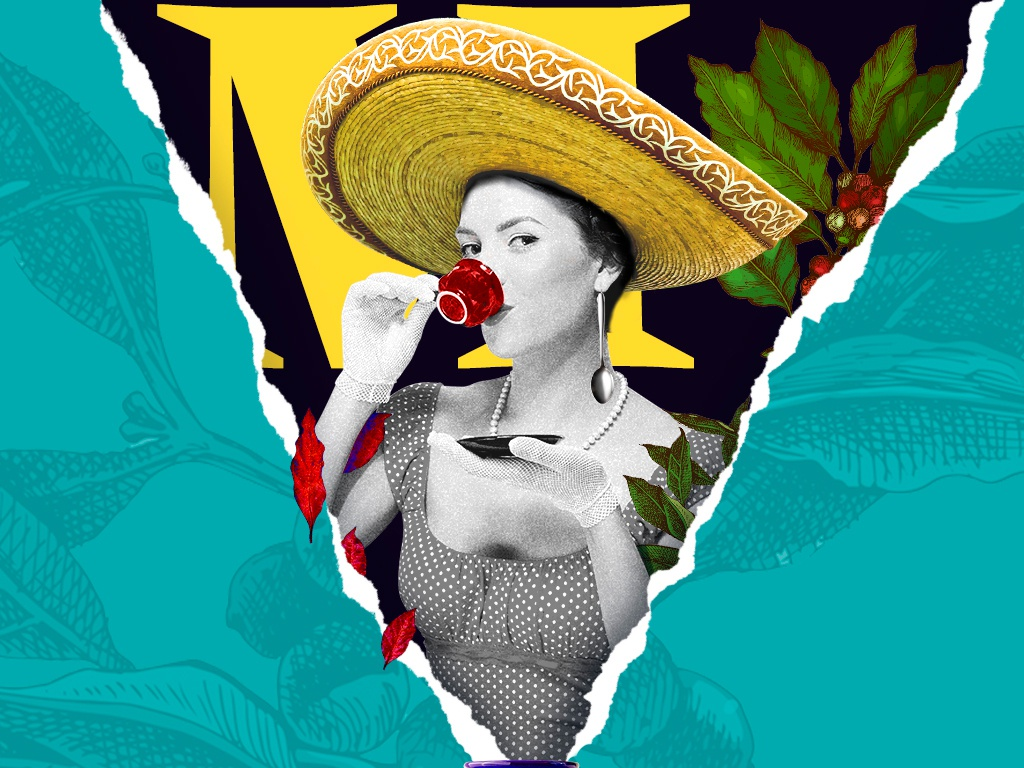 WIP - Mexican Coffee Collage wip creative concept branding collageart art mexico shop coffee digital collage