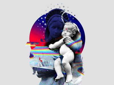 "Collage ""Digital Madonna"""