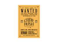 2015 Seattle Code Rush Wanted Poster
