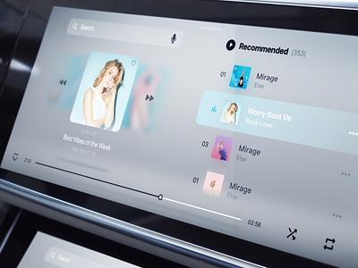 HMI音乐播放器概念方案 设计ui design hmi ui