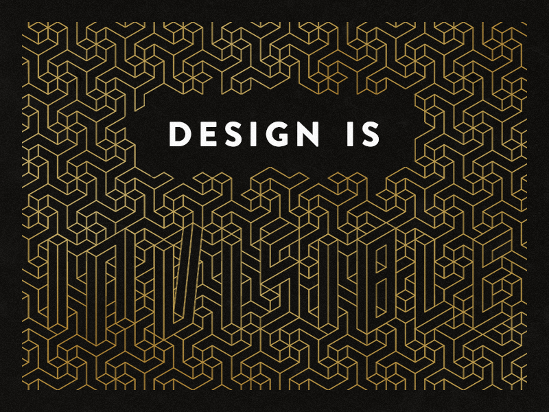Design is… (Official Shopify + Dribbble Playoff) shopify rebound playoff typography type pattern design lettering quote
