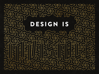 Design is… (Official Shopify + Dribbble Playoff)