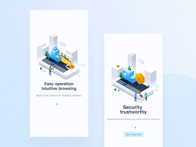 Guide page illustration ui 插图