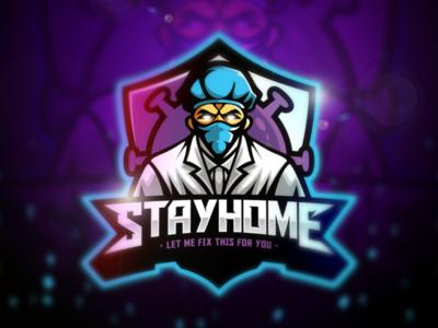 Stay Home Esport Logo