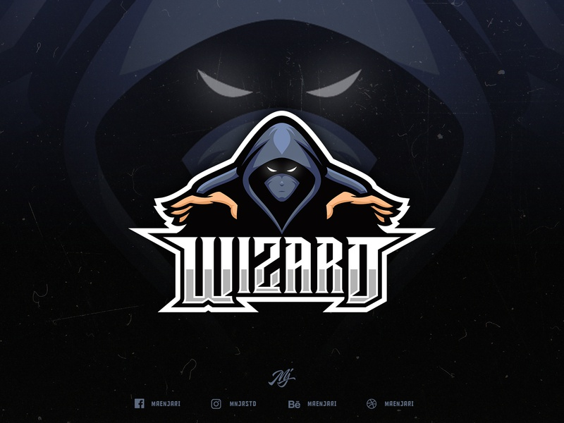 Wizard esport logo game wizard branding logo esport brand