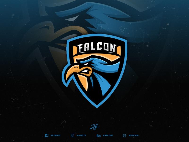 Falcon Esport Logo (for sale) logo for sale eagle baseball team gaming game sport logo esport falcon