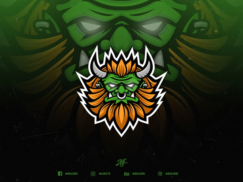 Buto Ijo Esport Logo design brand gaming logo esport orc ogre indonesian creature mystical green buto ijo butho ijo buto butho