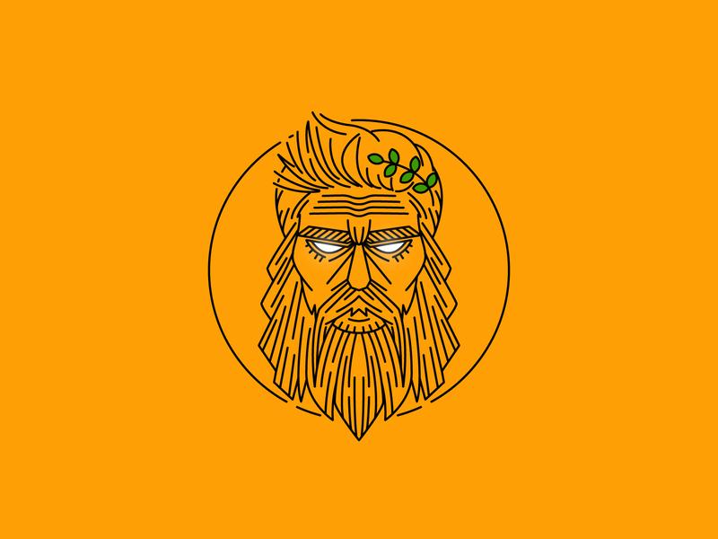 Zeus Pomade gentlemen hair cosmetic logo logo brand cosmetic pomade zeus
