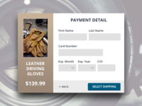 Credit Card Checkout Modal