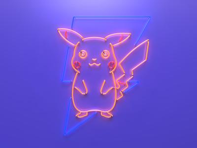 Pokeman Go Pikachu Neon Sign