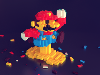 Super Mario Run Lego Model