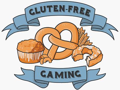 Gluten-Free Gaming logo vector logo