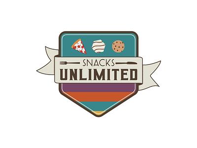 SnacksUNLIMITED Logo logo design branding vector