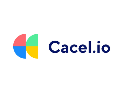 Cacel.io | CRM Company | Logo Animation red green yellow blue shape colorful color crm software crm motion animation logo