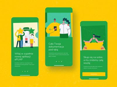 ZUS | Redesign Concpect | On boarding Animation iphone ui onboard onboarding ui welcome redesign zus retro urząd poland polska