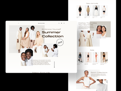 Soul & Smile - Home Concept premium clothes models desktop photoshoot ecommerce shop collection black homepage home fashion brutalism brutalist design ui ecommerce design ecommerce business